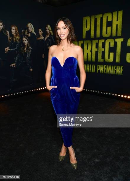 Kristen Doute attends the premiere of Universal Pictures' 'Pitch Perfect 3' at Dolby Theatre on December 12 2017 in Hollywood California