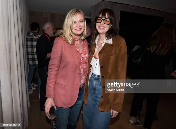Kristen Dunst and Dakota Johnson attend the Telluride Film Festival on September 04, 2021 in Telluride, Colorado.