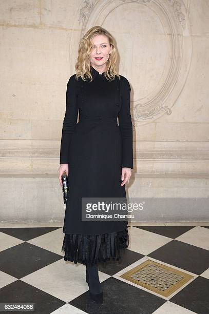 Kristen Dunst attends the Christian Dior Haute Couture Spring Summer 2017 show as part of Paris Fashion Week on January 23 2017 in Paris France