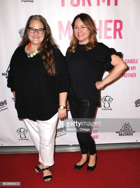 Kristen Funk and Stacey Healey arrive for a luncheon in honor of Mother's Day for the release of Pamela L Newton's 'A Candle For My Mother' held at...