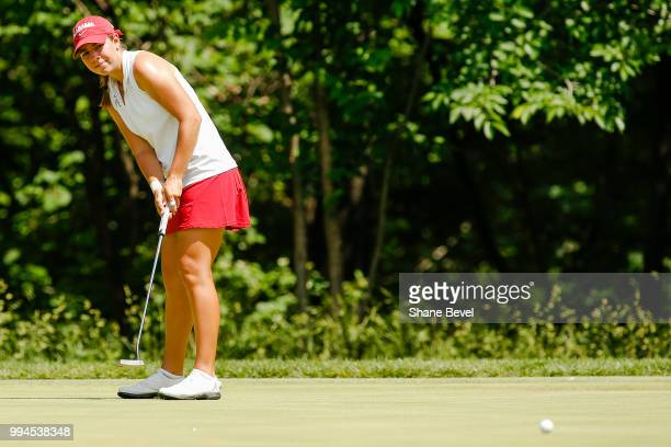 Kristen Gillman of Alabama putts during the Division I Women's Golf Team Match Play Championship held at the Karsten Creek Golf Club on May 23 2018...