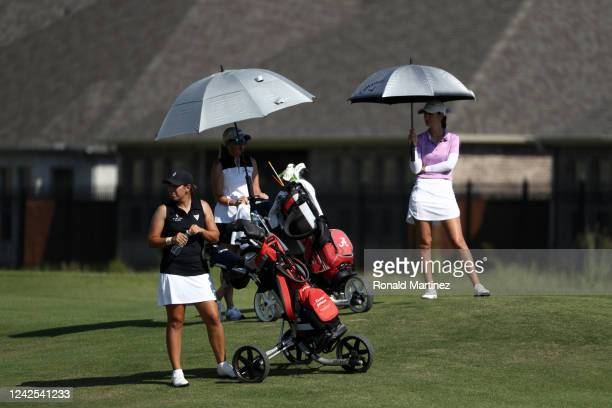 Kristen Gillman waits to make her approach shot on the 2nd hole during the first round of the Energy Producers Inc Texas Women's Open on June 02 2020...