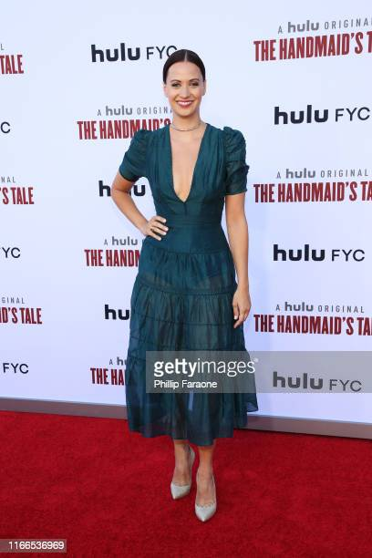 "Kristen Gutoskie attends Hulu's ""The Handmaid's Tale"" Season 3 Finale at Regency Village Theatre on August 06, 2019 in Westwood, California."