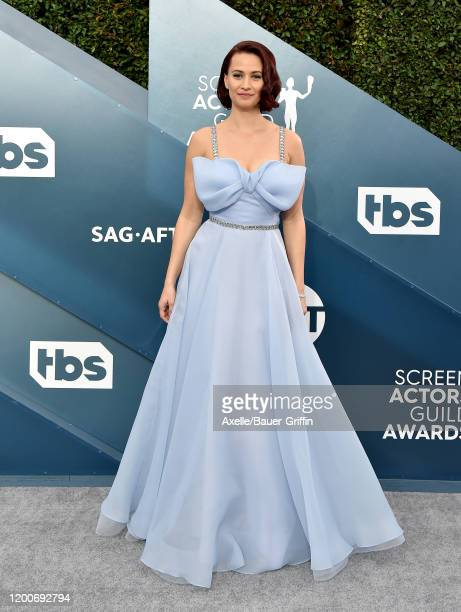 Kristen Gutoskie attends the 26th Annual Screen Actors Guild Awards at The Shrine Auditorium on January 19 2020 in Los Angeles California