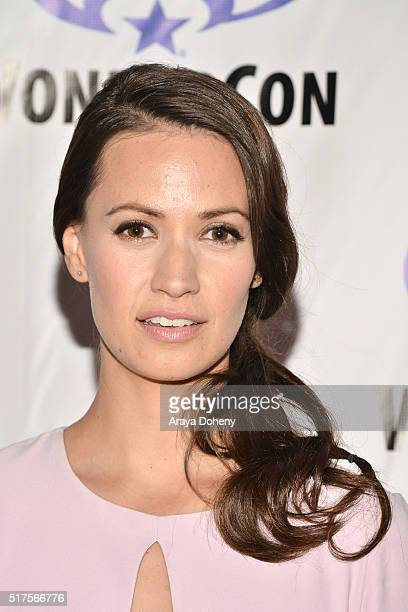 Kristen Gutoskie attends the Containment panel at WonderCon 2016 at Los Angeles Convention Center at WonderCon 2016 on March 25 2016 in Los Angeles...