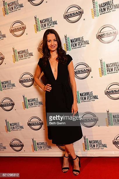 Kristen Gutoskie of the Film The Dust Storm attends the 2016 Nashville Film Festival at Regal Green Hills on April 14 2016 in Nashville Tennessee