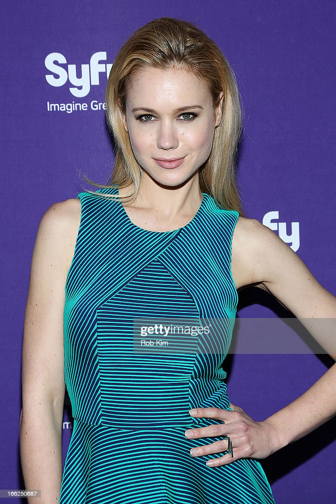 Kristen Hager of 'Being Human' attends Syfy 2013 Upfront at Silver Screen Studios at Chelsea Piers on April 10, 2013 in New York City.