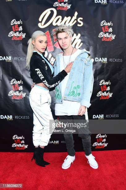 Kristen Hancher and Austin Hare at Dani Cohn's Surprise 15th Birthday Party at Hollywood Roosevelt Hotel on March 10 2019 in Hollywood California