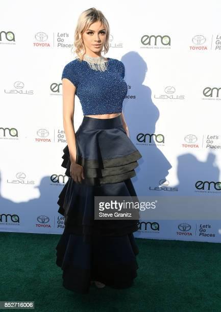 Kristen Hancher arrives at the 27th Annual EMA Awards at Barker Hangar on September 23 2017 in Santa Monica California