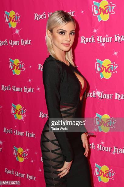 Kristen Hancher at Rock Your Hair Presents Rock Back to School concert and party on September 30 2017 in Los Angeles California
