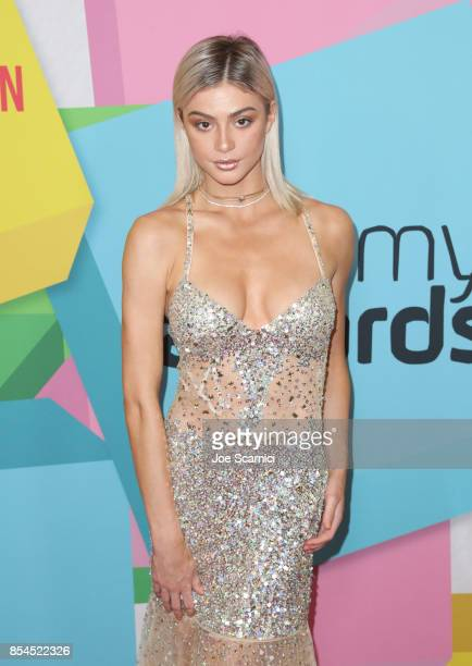 Kristen Hancher at the 2017 Streamy Awards at The Beverly Hilton Hotel on September 26 2017 in Beverly Hills California