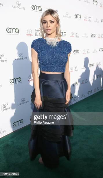 Kristen Hancher at the Environmental Media Association's 27th Annual EMA Awards at Barkar Hangar on September 23 2017 in Santa Monica California