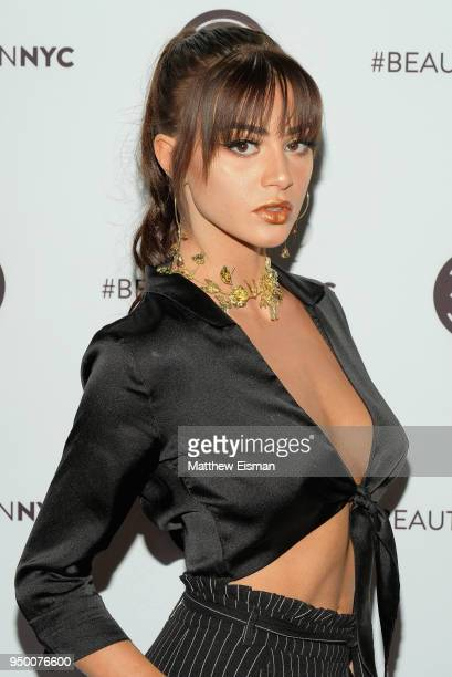 Kristen Hancher attends Beautycon Festival NYC 2018 Day 2 at Jacob Javits Center on April 22 2018 in New York City