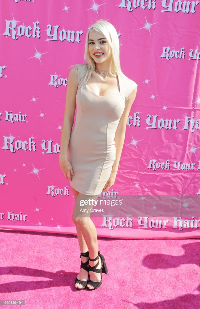 Kristen Hancher attends Rock Your Hair presents 'Rock Your Summer' party  and concert on