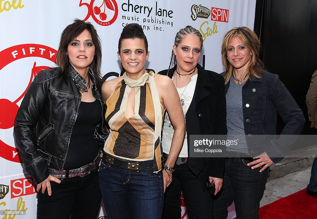 Kristen Henderson, Nini Camps, Cathy Henderson, and Dena Tauriello of the band Antigone Rising attend the Cherry Lane Music Publishing's 50th Anniversary celebration at Brooklyn Bowl on May 19, 2010 in the Brooklyn borough of New York City.