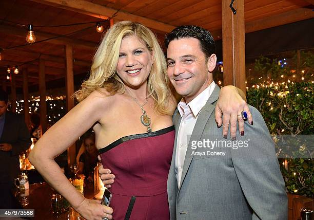 Kristen Johnston and David Alan Basche attend The Exes Season 4 which premieres November 5 at 1030p ET/PT at Wirtshaus LA on October 27 2014 in Los...