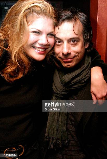 Kristen Johnston and Joe Mantello during Aunt Dan and Lemon Opening Night Party at The West Bank Cafe in New York City New York United States