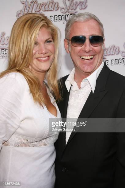 Kristen Johnston and Scott Wittman during Martin Short Fame Becomes Me Broadway Opening Night Arrivals at Bernard B Jacobs Theater in New York City...