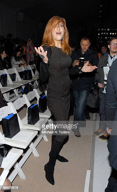 Kristen Johnston attends the Christian Siriano Fall 2010 fashion show during MercedesBenz Fashion Week at Bryant Park on February 12 2010 in New York...