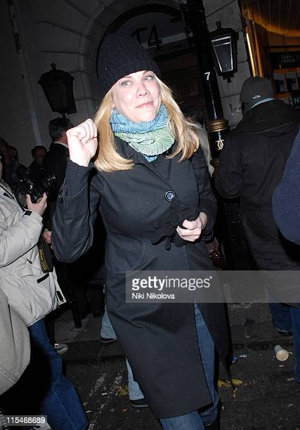 Kristen Johnston during Celebrity Sightings at Nobu February 07 2007 at Nobu in London Great Britain