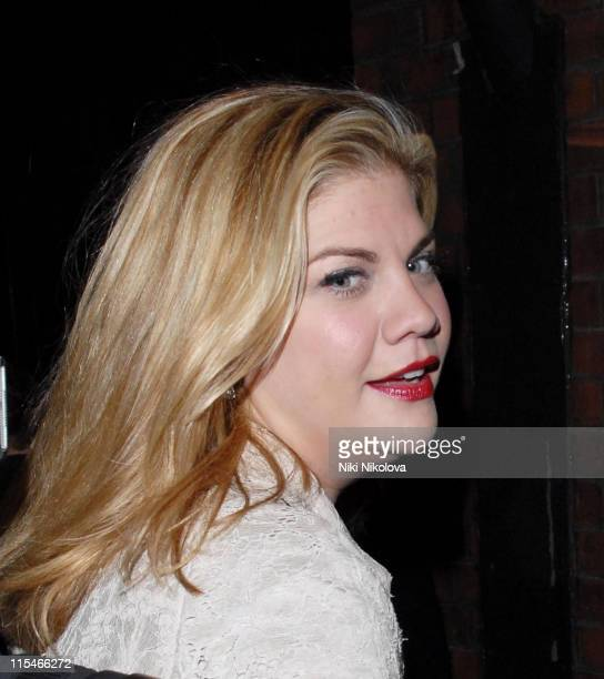 Kristen Johnston during Love Song Photo Call Departures at New Ambassador Theatre in London Great Britain