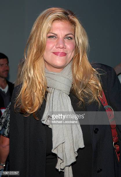 Kristen Johnston during Olympus Fashion Week Spring 2007 Project Runway Season 3 Finale Front Row at Bryant Park in New York City New York United...