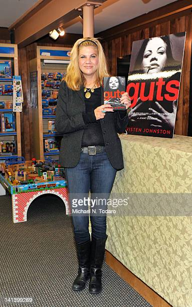 Kristen Johnston promotes Guts at Bookends Bookstore on March 15 2012 in Ridgewood New Jersey