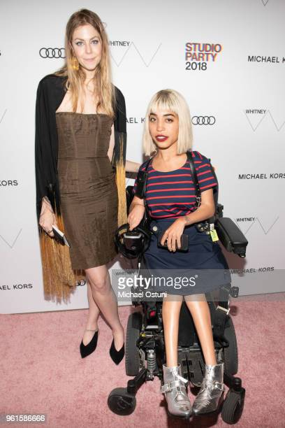 Kristen Joy Watts and Jillian Mercado attend the Whitney Museum Celebrates The 2018 Annual Gala And Studio Party at The Whitney Museum of American...