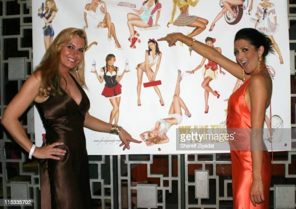 Kristen Kirchner and Erin Elmore during The Girls Formerly on NBC's The Apprentice are Fired Up and Giving Back 6 October 2005 at Lotus in New York...