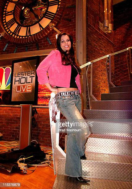 Kristen Kirchner At MSNBC for Lester Holt Live **exclusive**