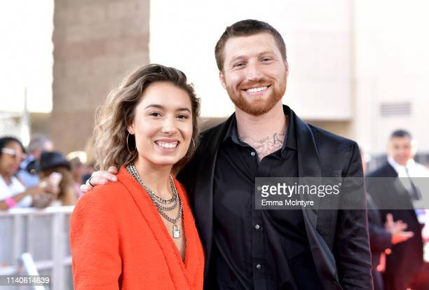 Kristen McAtee and Scotty Sire attend the 2019 Billboard Music Awards at MGM Grand Garden Arena on May 1 2019 in Las Vegas Nevada