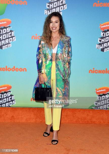 Kristen McAtee attends Nickelodeon's 2019 Kids' Choice Awards at Galen Center on March 23 2019 in Los Angeles California