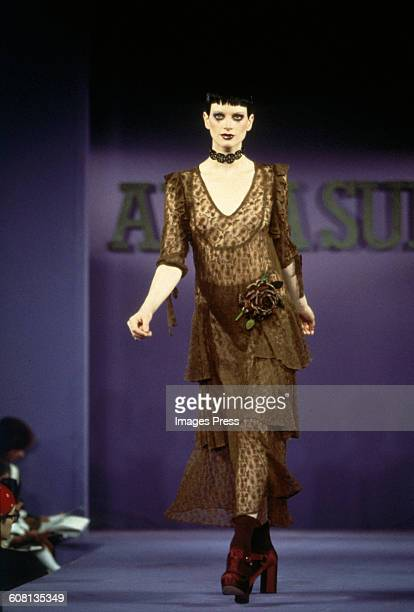 Kristen McMenamy at the Anna Sui Spring 1993 show circa 1992 in New York City