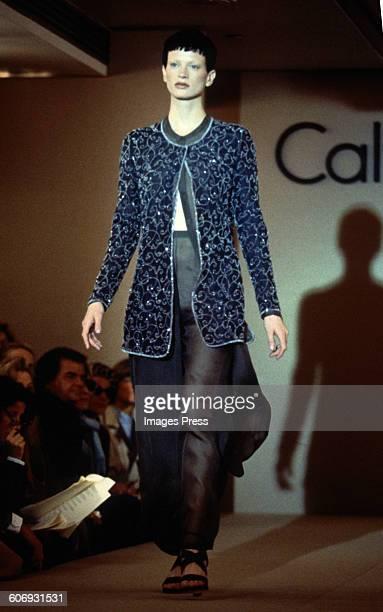 Kristen McMenamy at the Calvin Klein Spring 1993 show circa 1992 in New York City