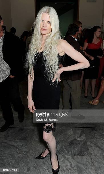 Kristen McMenamy attends a private view of 'Portraits' a new exhibition by Jonathan Yeo at the National Portrait Gallery on September 10 2013 in...