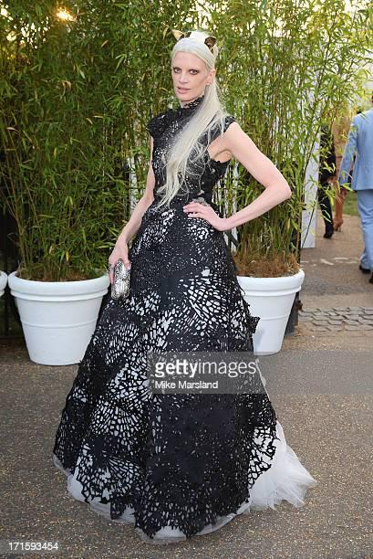 Kristen McMenamy attends the annual Serpentine Gallery summer party at The Serpentine Gallery on June 26 2013 in London England