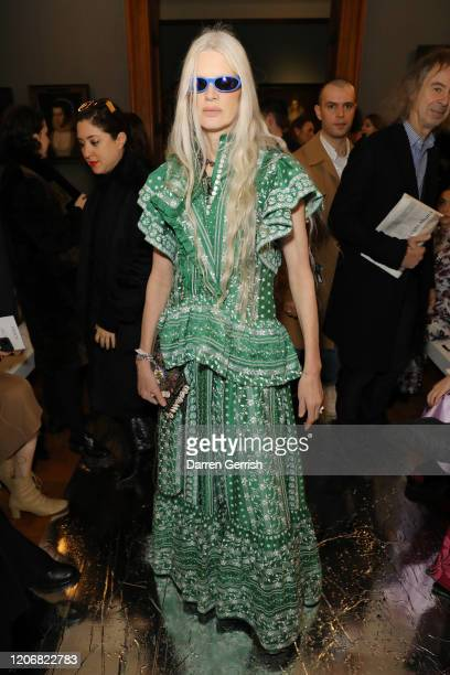 Kristen McMenamy attends the Erdem show during London Fashion Week February 2020 on February 17 2020 in London England