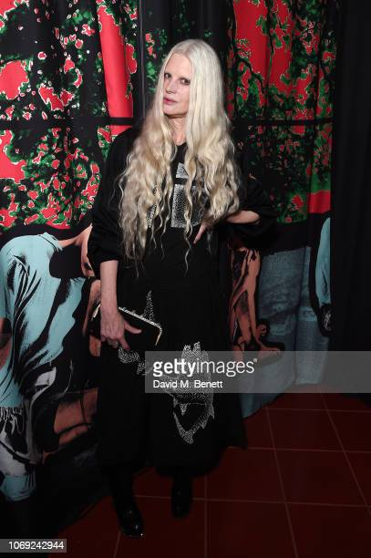 Kristen McMenamy attends the JW Anderson x Matchesfashioncom cocktail party celebrating the launch of the Gilbert George capsule collection on...