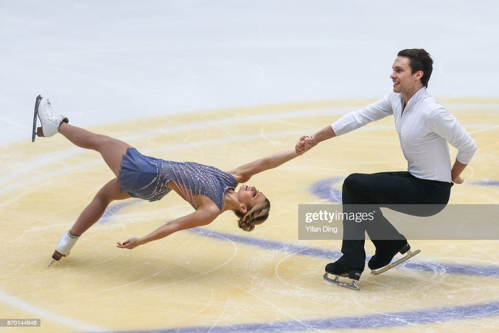 Kristen Moore-Towers and Michael Marinaro of Canada perform during the Pairs Free Skating on Day 2 of Audi Cup of China ISU Grand Prix of Figure Skating 2017 at Beijing Capital Gymnasium on November 4, 2017 in Beijing, China.