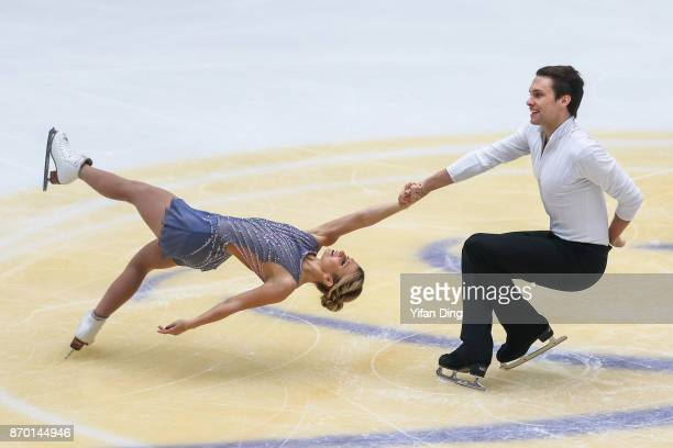 Kristen MooreTowers and Michael Marinaro of Canada perform during the Pairs Free Skating on Day 2 of Audi Cup of China ISU Grand Prix of Figure...