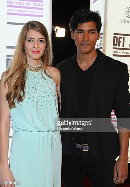 Kristen Ringlemann and actor Jan Uddin attend Closing Night Ceremony during day 5 of the 2011 Doha Tribeca Film Festival at KOAT on October 29 2011...