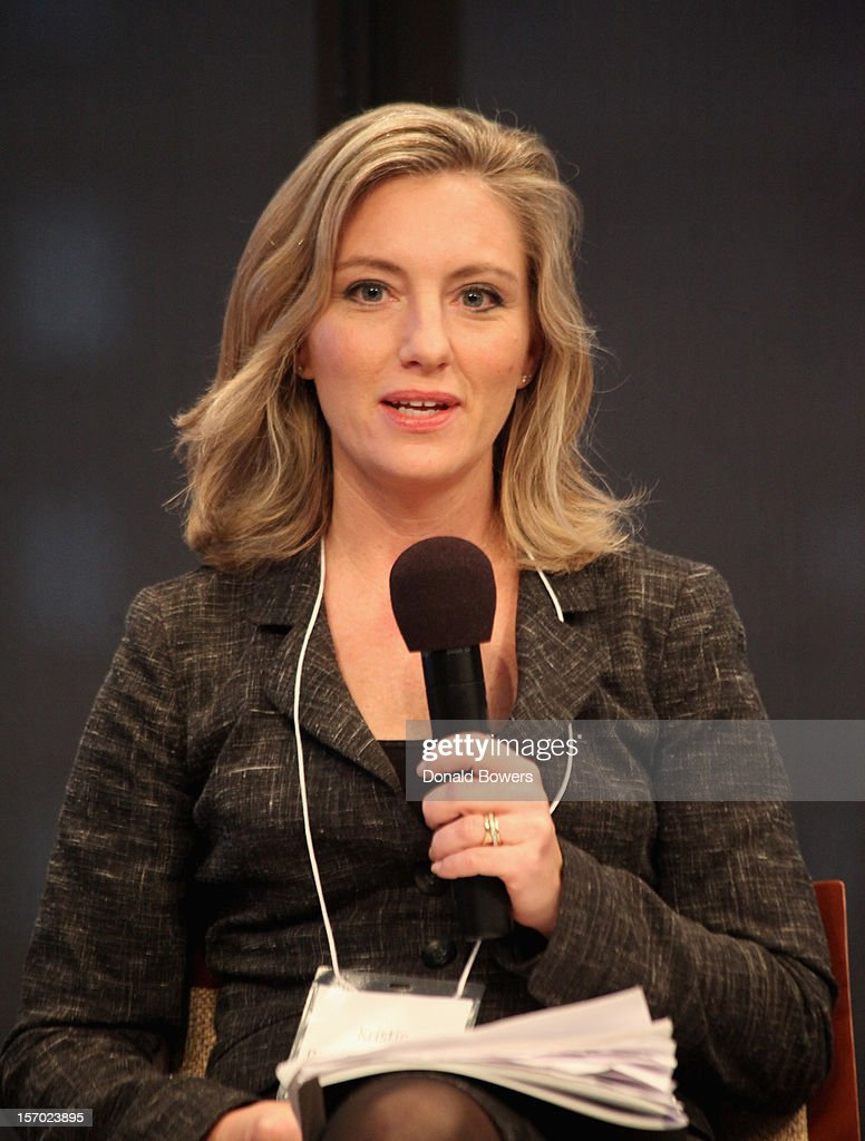Kristen Rowe-Finkbeiner speaks during a panel at The Ford Foundation Hosts Day Of Discussion On The Hidden World Of Domestic Work In The US at Ford Foundation on November 27, 2012 in New York City.