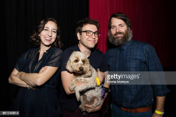Kristen Schaal Jon Lovett and Will Forte attend Beef Relief a special benefit for the International Rescue Committee at Largo on September 21 2017 in...