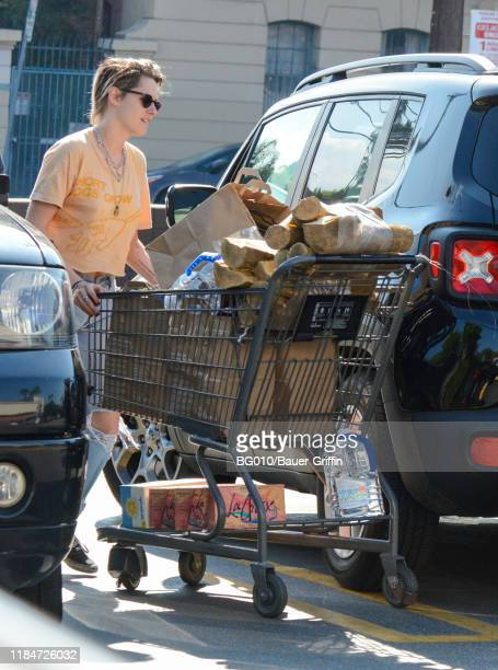 Kristen Stewart and Dylan Meyer are seen on November 25 2019 in Los Angeles California