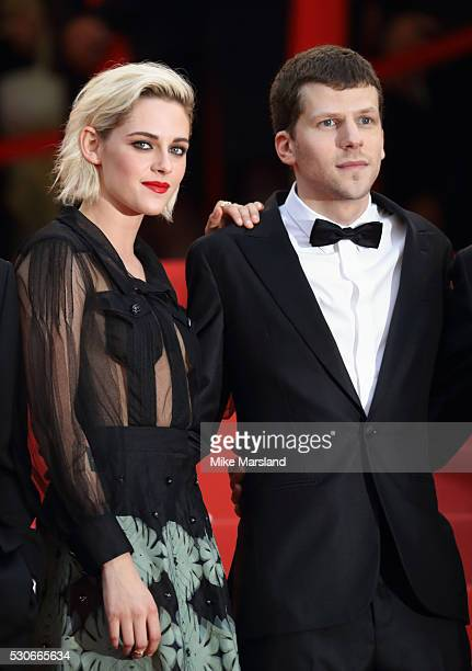 Kristen Stewart and Jesse Eisenberg attend the 'Cafe Society' premiere and the Opening Night Gala during the 69th annual Cannes Film Festival at the...