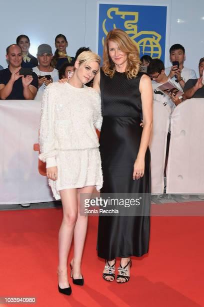 Kristen Stewart and Laura Dern attend the 'Jeremiah Terminator LeRoy' Premiere during 2018 Toronto International Film Festival at Roy Thomson Hall on...