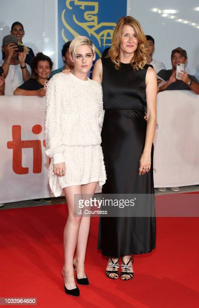 Kristen Stewart and Laura Dern attend the premiere of Jeremiah Terminator LeRoy at Roy Thomson Hall on September 15 2018 in Toronto Canada