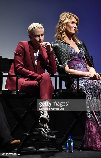 Kristen Stewart and Laura Dern speak onstage at the Certain Women intro and QA during the 54th New York Film Festival at Alice Tully Hall Lincoln...
