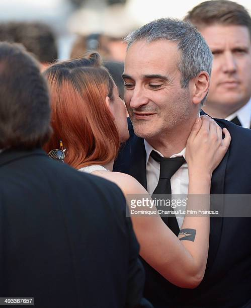 Kristen Stewart and Olivier Assayas attend the 'Clouds Of Sils Maria' Premiere during the 67th Annual Cannes Film Festival on May 23 2014 in Cannes...