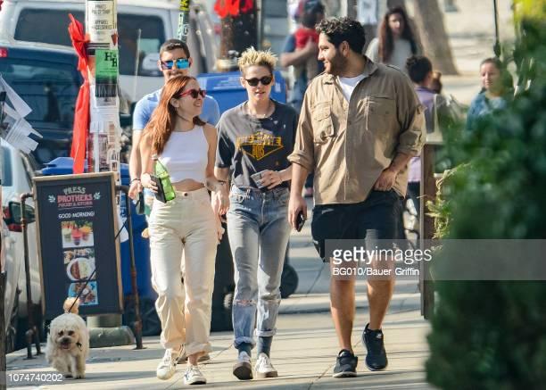 Kristen Stewart and Sara Dinkin are seen on December 24 2018 in Los Angeles California